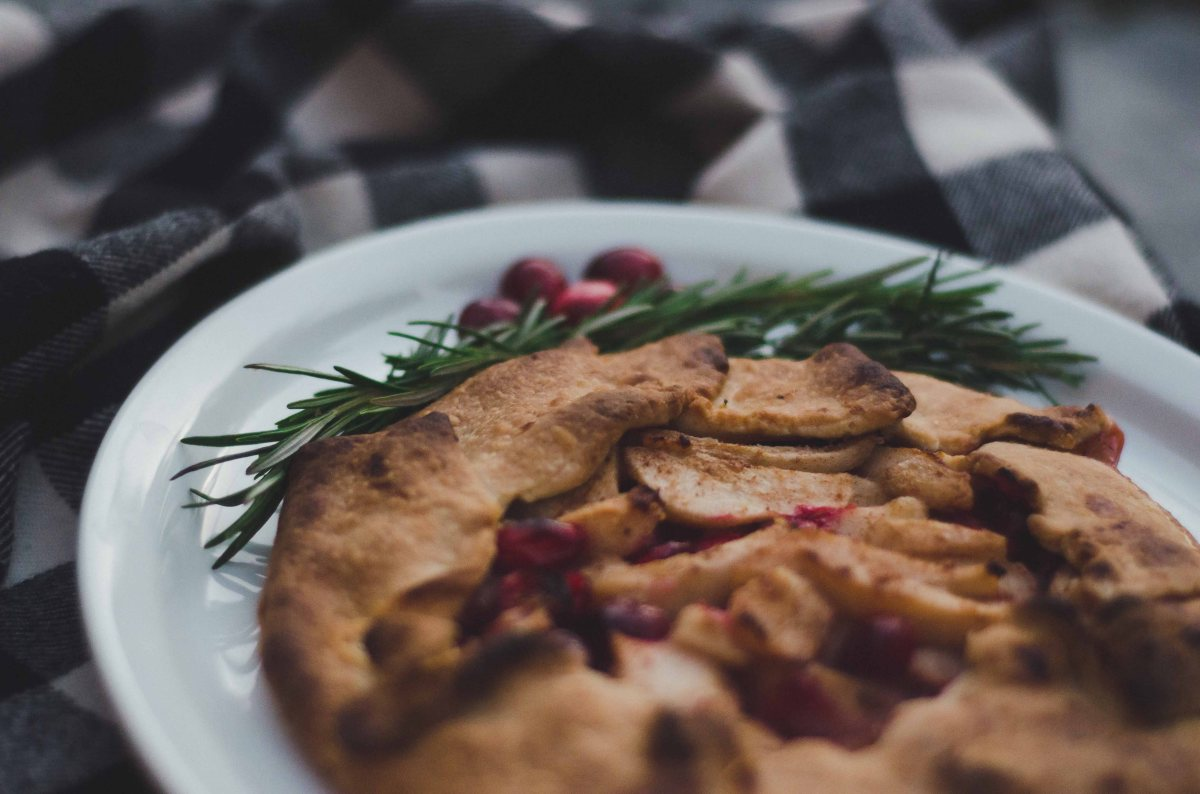 Pear-Cranberry Galette & Maple Ginger Glaze